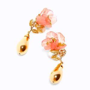 🌈2/$30 New Zara Floral Cluster Drop Earrings